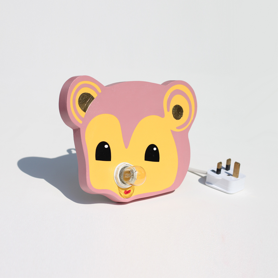 Bear Lamp mini 1 glint_Merrimaking